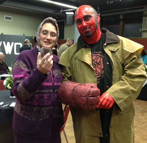 My favorite ironic juxtaposition - Church Lady and Hellboy.