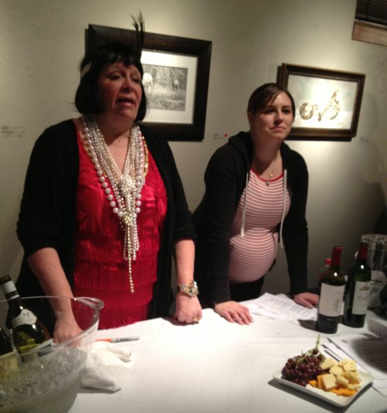 A flapper and Juno. (Good momma - she was serving the wines and not drinking them.)