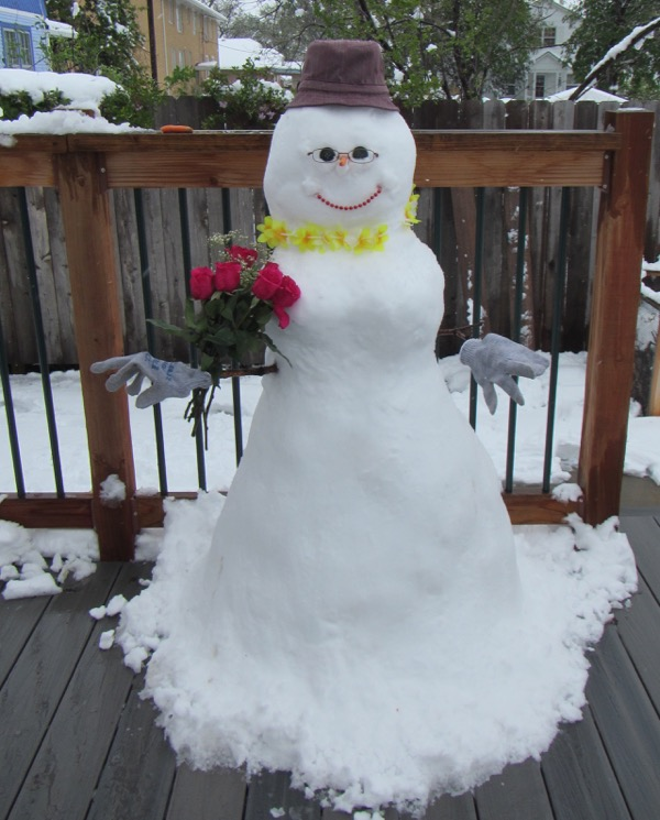 2015 mothers day snowwoman