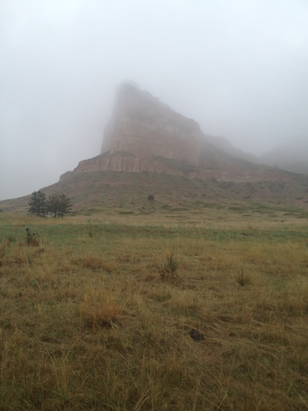 Eagle Rock in the mist.
