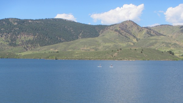 And some nice vantage points to watch people waterskiing and paddleboarding on the reservoir.