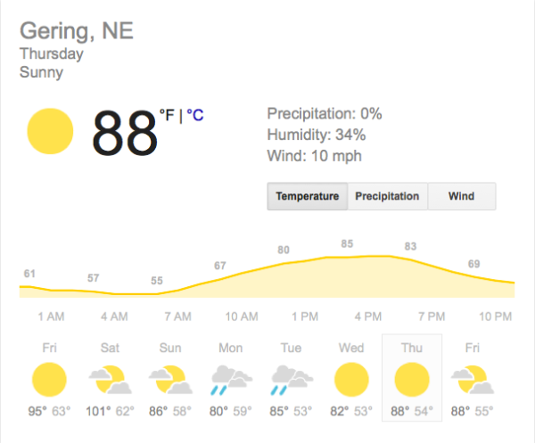 gering 10 day forecast august 20 2015