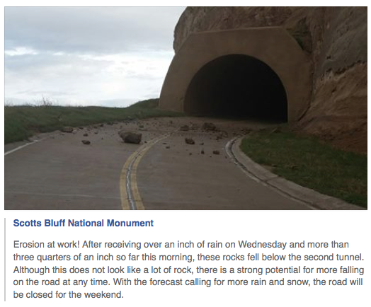 A May 9 post on the Scotts Bluff National Monument Facebook page.