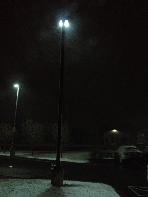 snow at 530 am