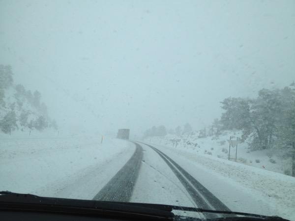 wildcat hills snow road