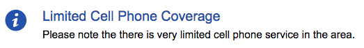 limited cell coverage